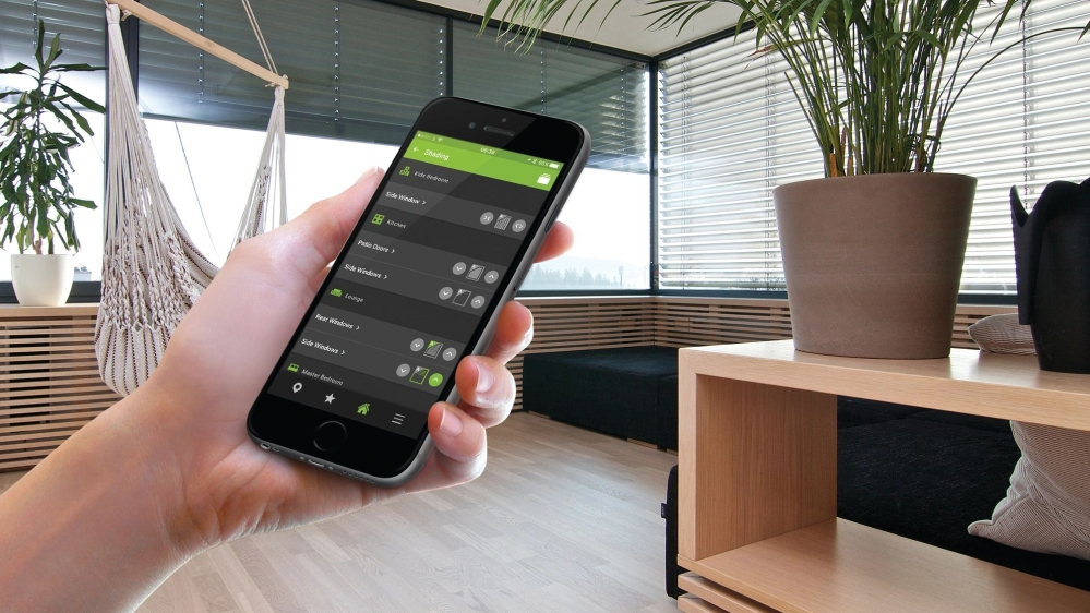 As the day begins your Meekol Smart Home will automatically raise your blinds.  Shading control can also be automated to control the levels of light allowed into the room.